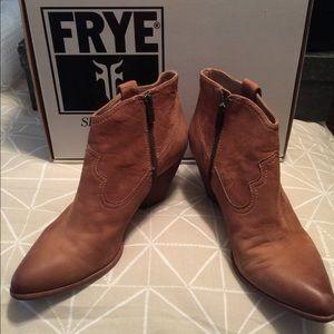 Frye Suede Cowboy Bootiez